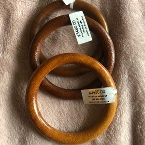 Set of three wooden bangles